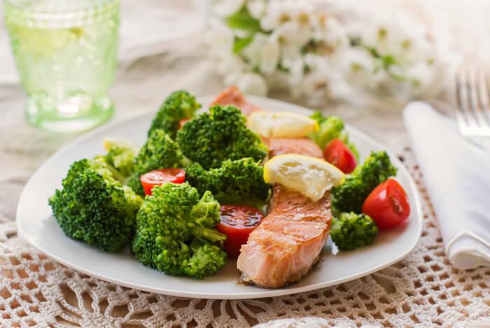 veggies salmon honey soy