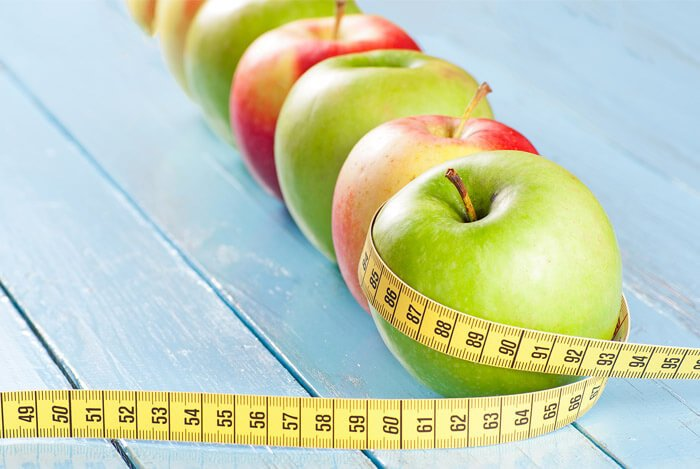apples tape measure weight loss