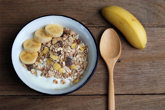 oats banana slices