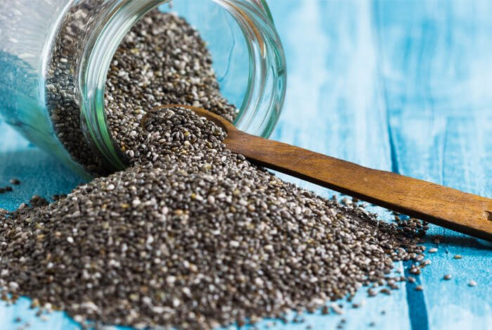 chia seeds jar