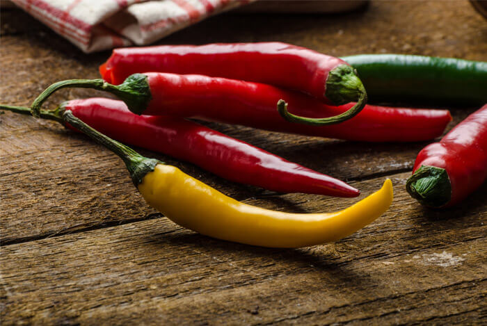 red yellow chilies