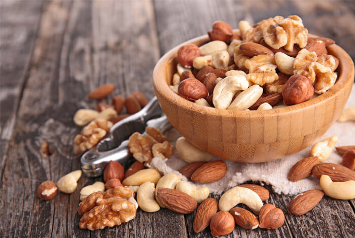 mixed nuts bowl