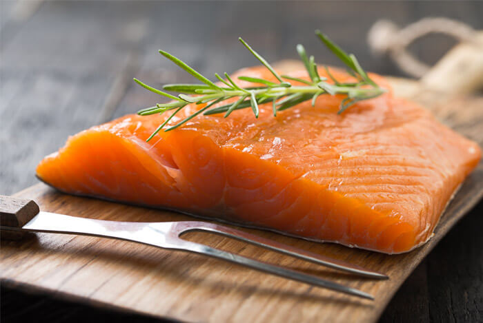 salmon rosemary fork board