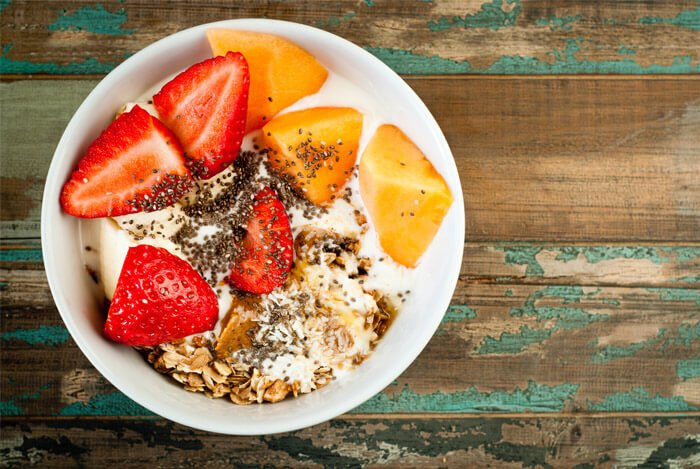 yogurt fruit chia bowl