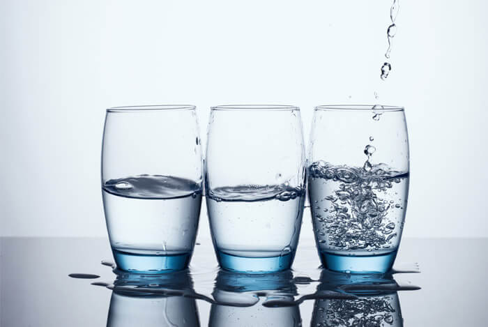fluido de água de óculos