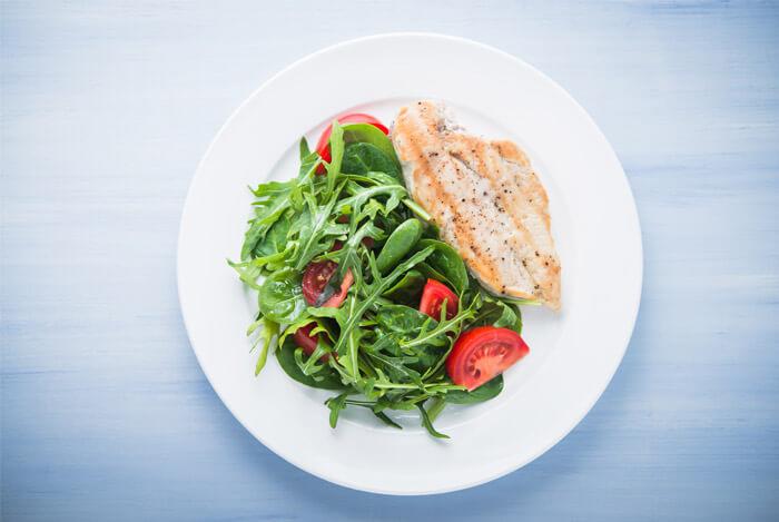 balanced diet plate