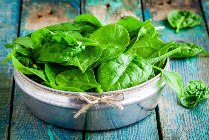 leafy green spinach