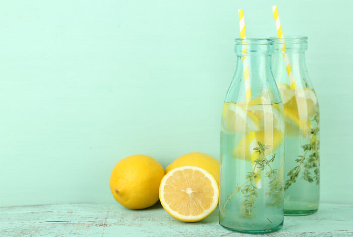 lemonade bottles cut lemons