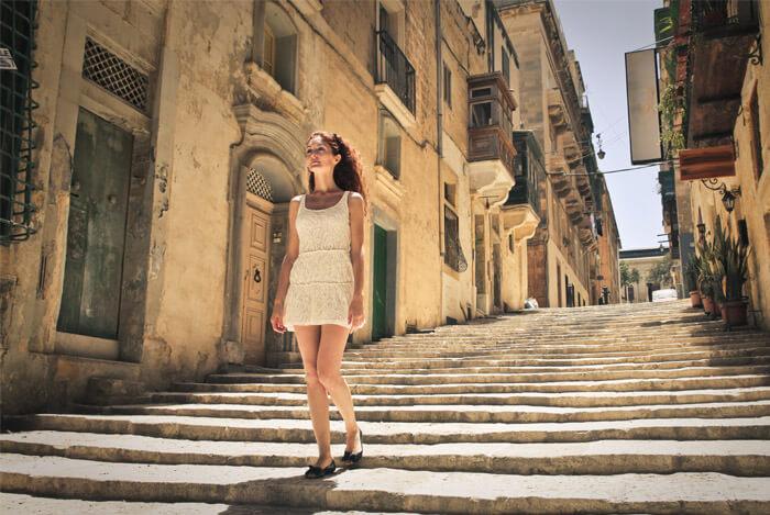 skinny mediterranean woman