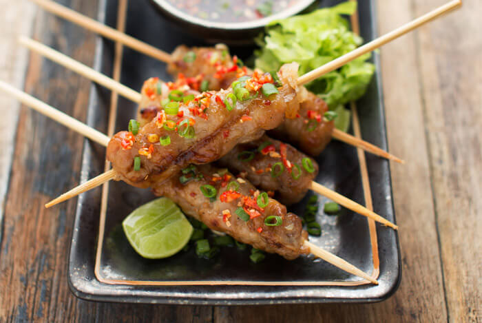 thai pork skewers