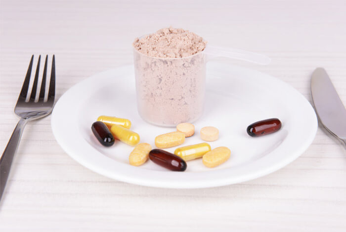 whey tablets on plate