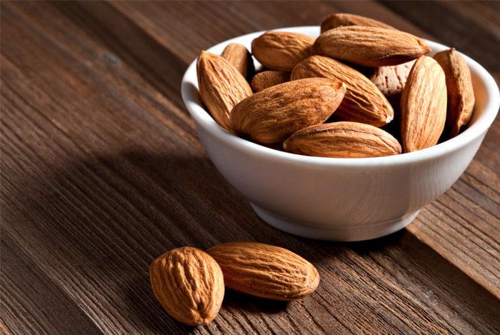 close up almonds