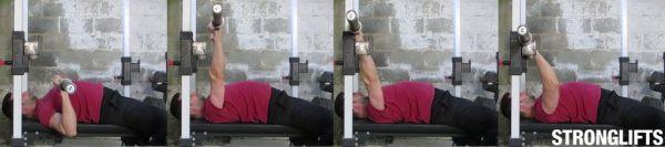 bench press form racking