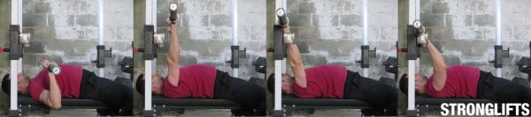 bench press form racking