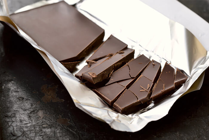 wrapper block dark chocolate