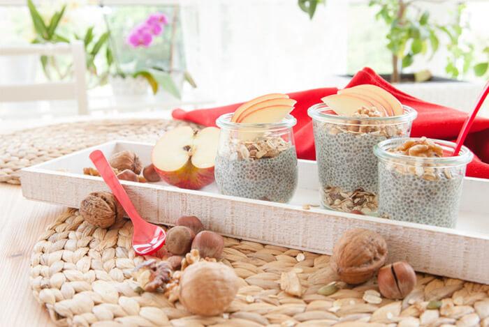 chia pudding jars
