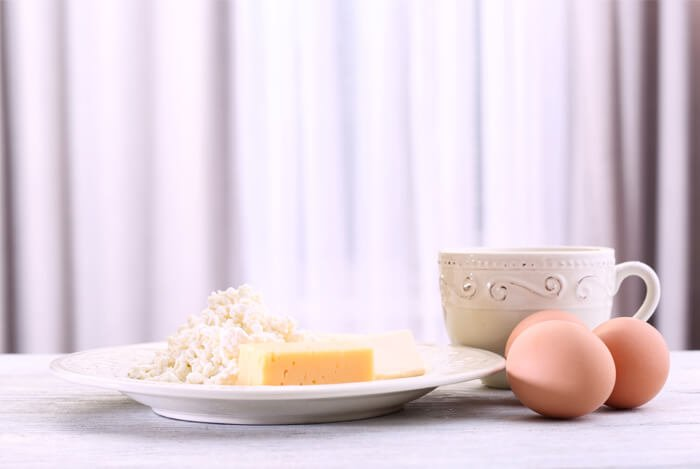 dairy eggs table