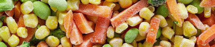 frozen vegetables banner