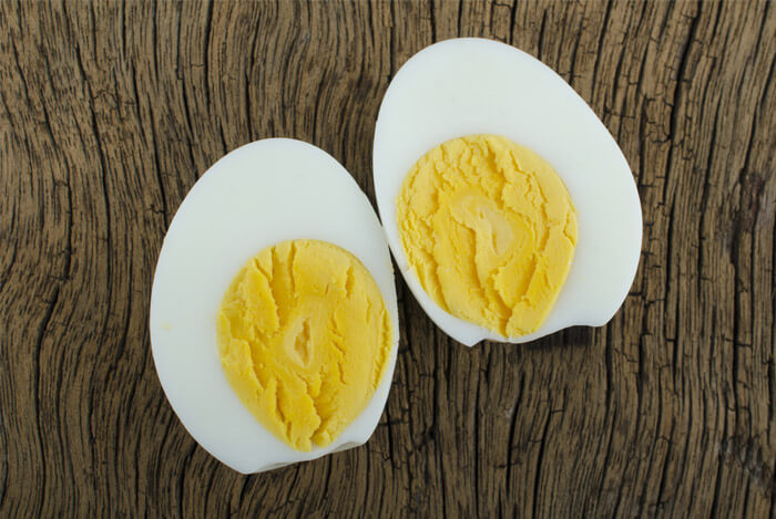 hard boiled eggs sliced