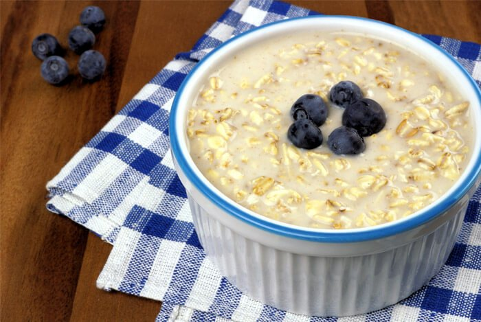 overnight oats bluebberies