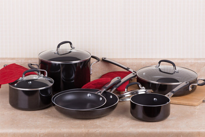 varying non stick pots pans