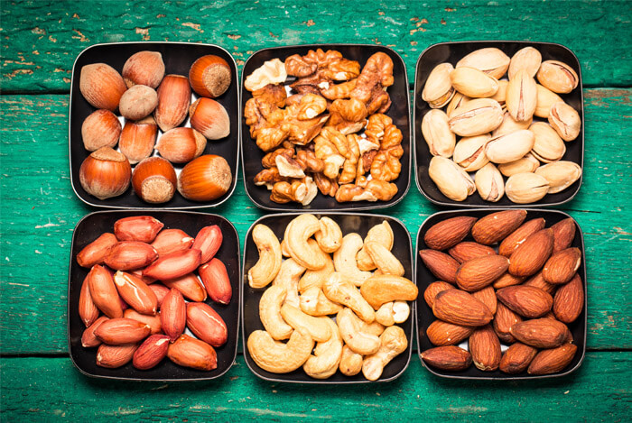 mixed whole nuts