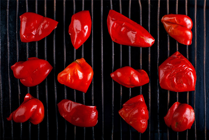 red peppers grilled