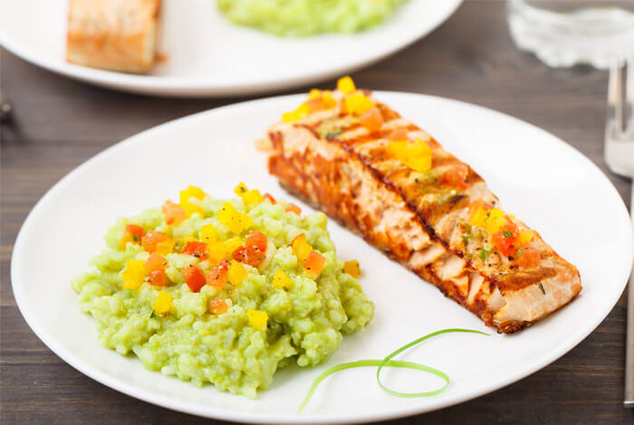 Grilled Salmon and Avocado Salsa
