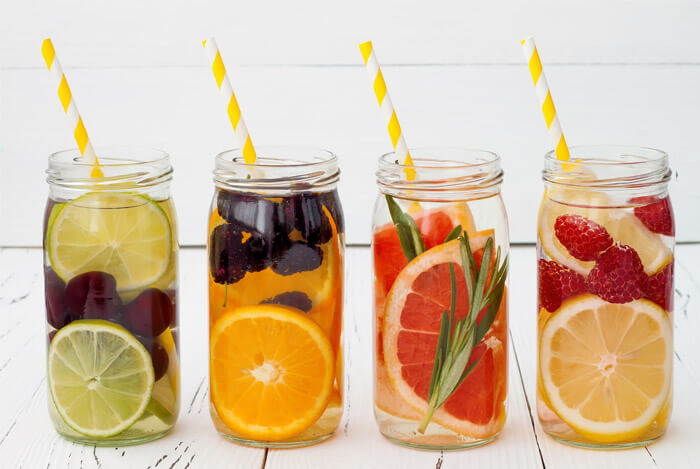 healthy natural flavour water