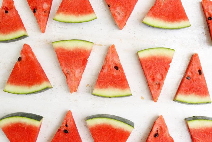 flat lay watermelon