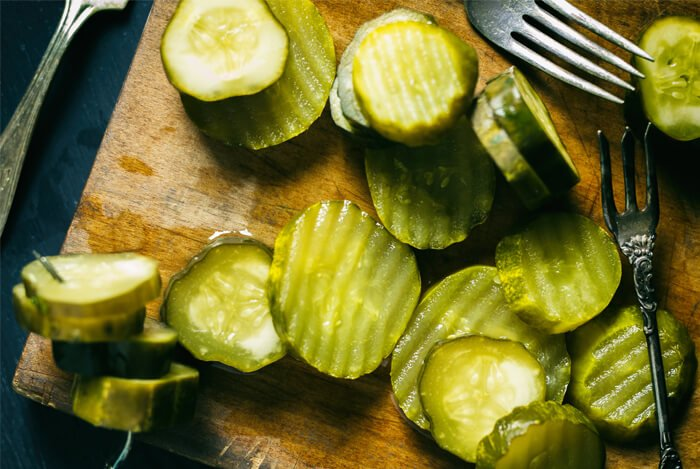 cucumbers sliced