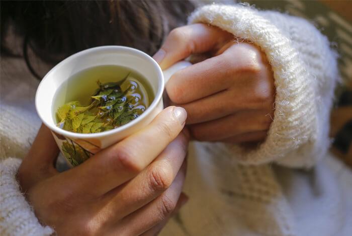 sip herbal tea