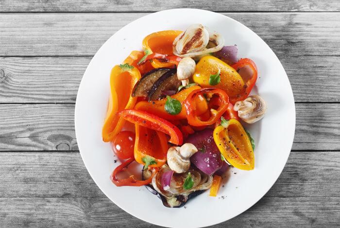5 serves of vegetables