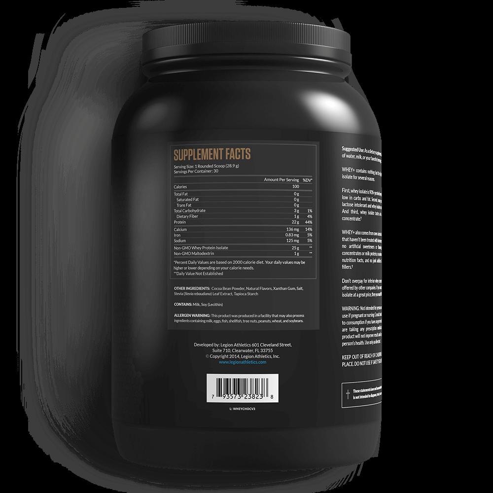 Legion Whey+ Protein Powder Isolate Supplements