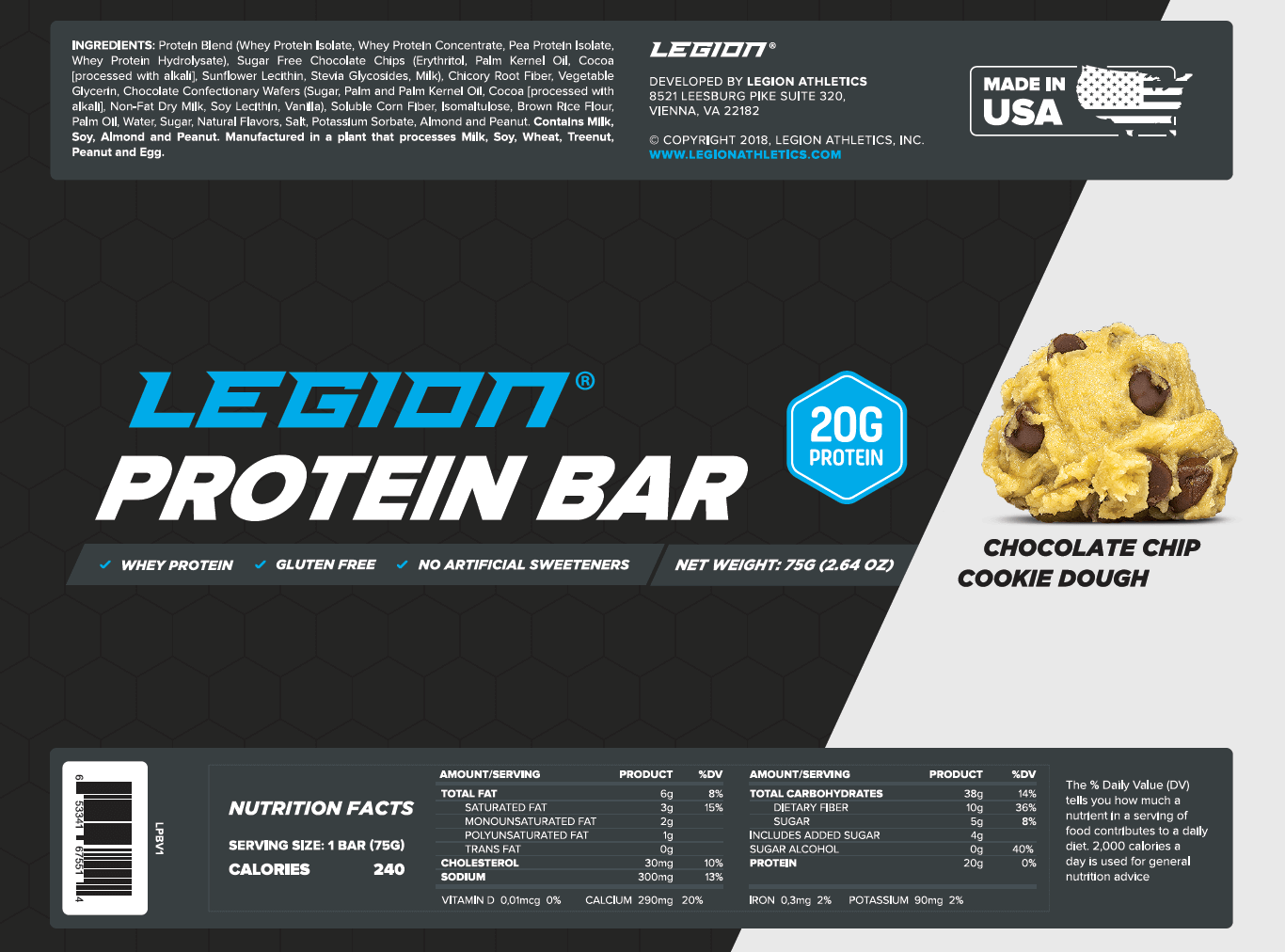 legion protein bar wrapper