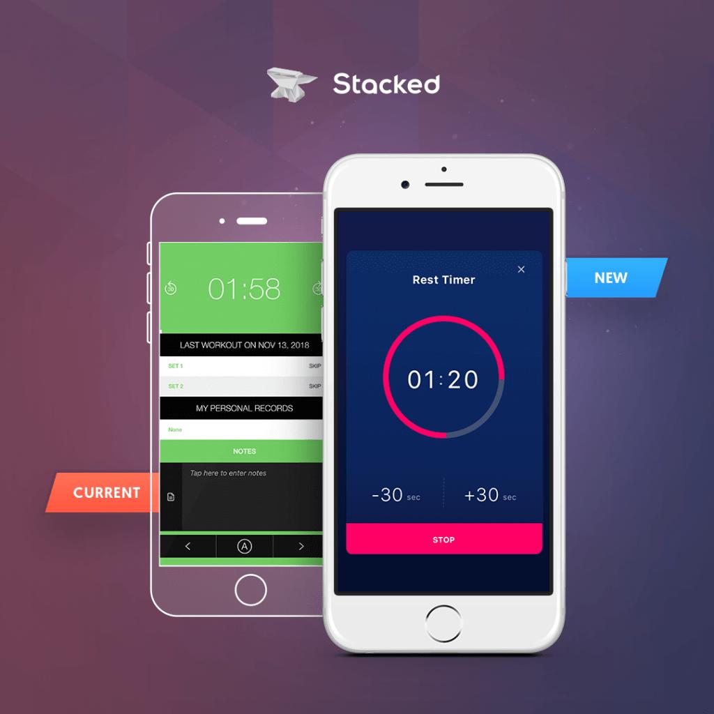 Stacked app comparison version 1