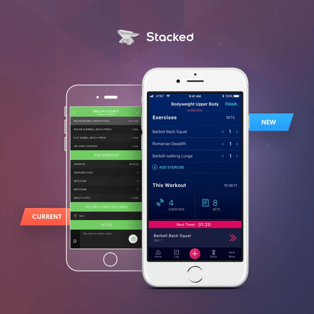 Stacked app comparison version 2