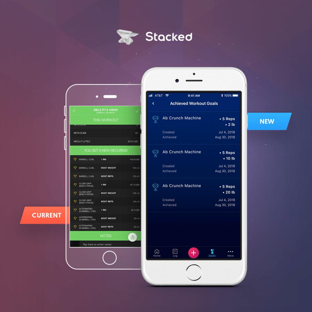 Stacked app comparison version 3