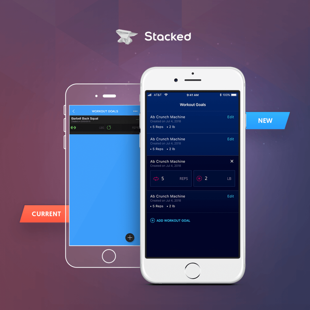 Stacked app comparison version 4