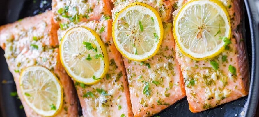 Baked Garlic-Dijon Salmon
