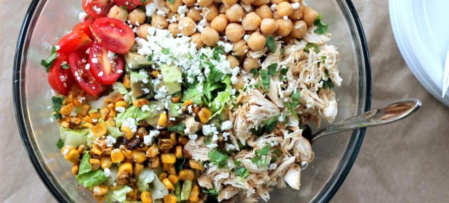 Chopped Chicken Chickpea Salad