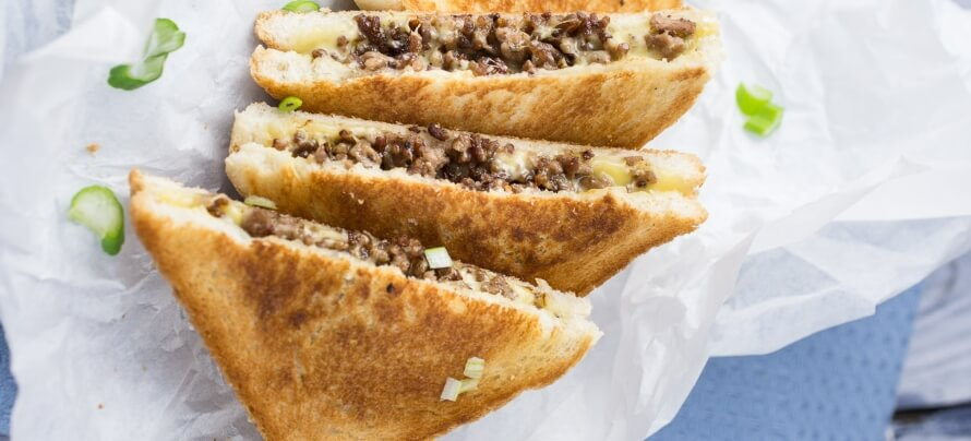 Ground Beef Grilled Cheese