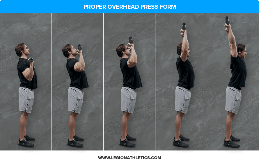 proper overhead press form
