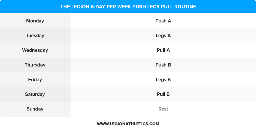 6-Day-Push-Legs-Pull-Routine