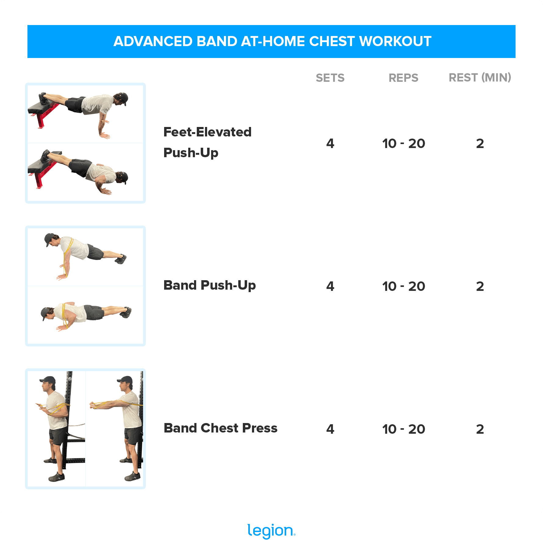 ADVANCED BAND AT-HOME CHEST WORKOUT