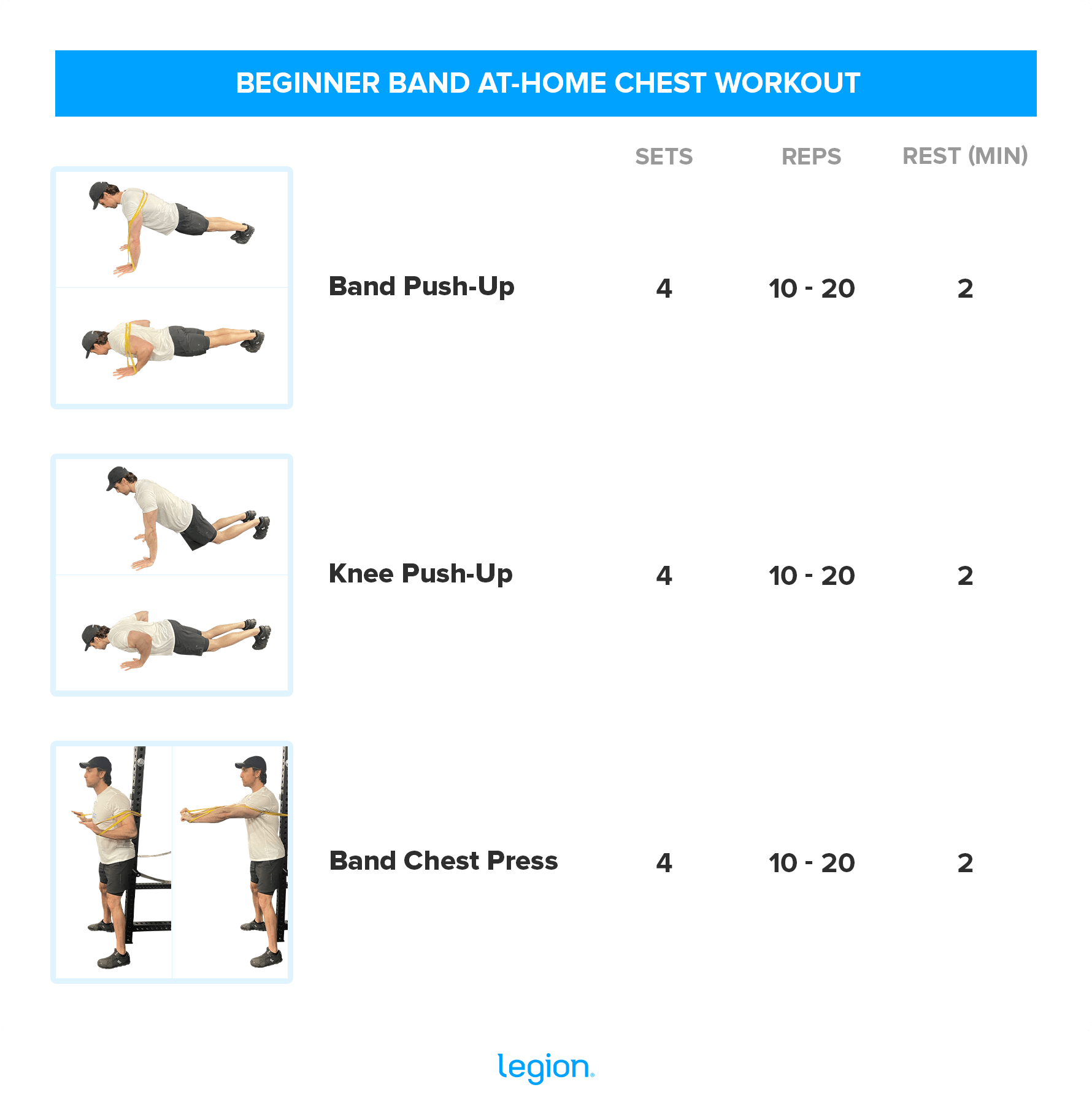 BEGINNER BAND AT-HOME CHEST WORKOUT