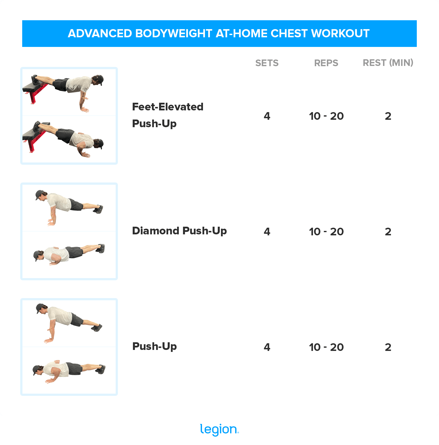 ADVANCED BODYWEIGHT AT-HOME CHEST WORKOUT