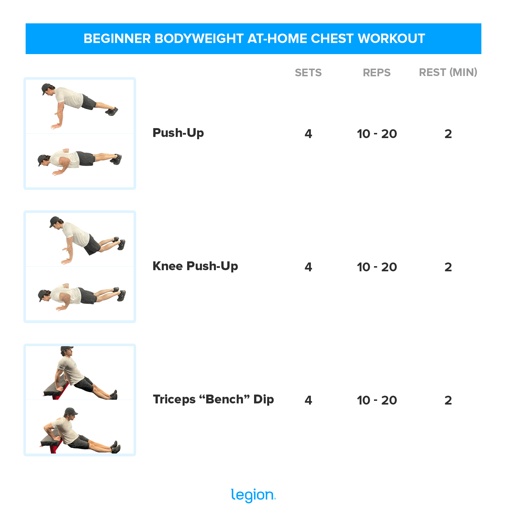 BEGINNER BODYWEIGHT AT-HOME CHEST WORKOUT