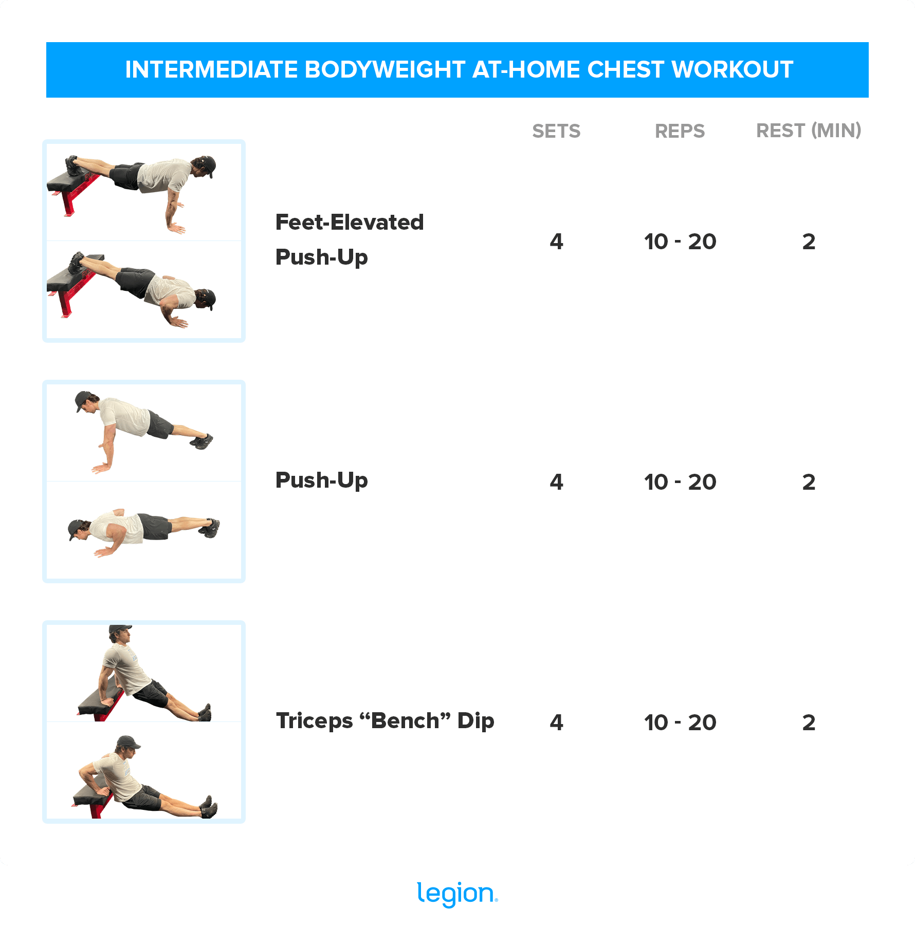 INTERMEDIATE BODYWEIGHT AT-HOME CHEST WORKOUT