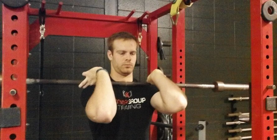 How to front squat grip